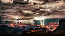 Lámina-Dios temiendo Thunder & Lightning Storm más de un cañón (imagen Arte)