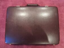 vtg Franzen Fine Leather Briefcase valise brown leather w/ lock code portfolio