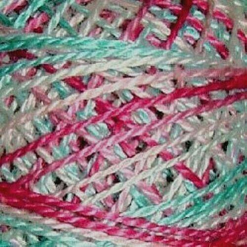 Valdani Perle Cotton Size 12 Embroidery Thread Sparkling Stream Variegated V108
