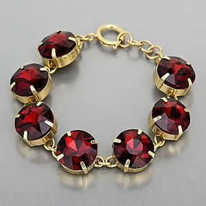 Image Is Loading Gold Clear Ruby Red Stone Designer Inspired Simple