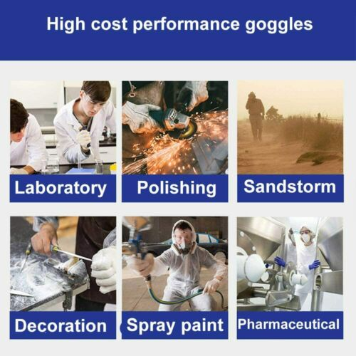 Details about  /Transparent Safety Goggles Splash Seal Eye Protection Vented Clear Anti Fog Len