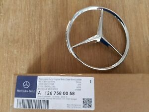Details about Mercedes-Benz W126 C126 W123 Rear Trunk Boot Emblem Badge  A1267580058 genuine