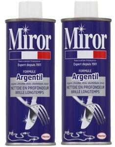 Lot-2-MIROR-Formule-argentil-nettoyant-argent-chrome-inox-nickel-etain