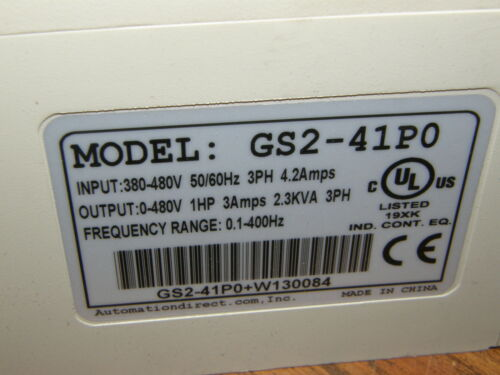 AUTOMATION DIRECT AC DRIVE  GS2-41P0