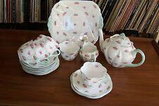 """Shelley - """"Rosebud"""" Tea Set - #13423 - Dainty Shape"""