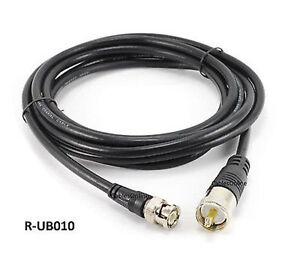 Black Male to BNC Male Plug Antenna Ham Radio Cable Pro Trucker 10ft RG59 75 OHM Coax UHF PL259
