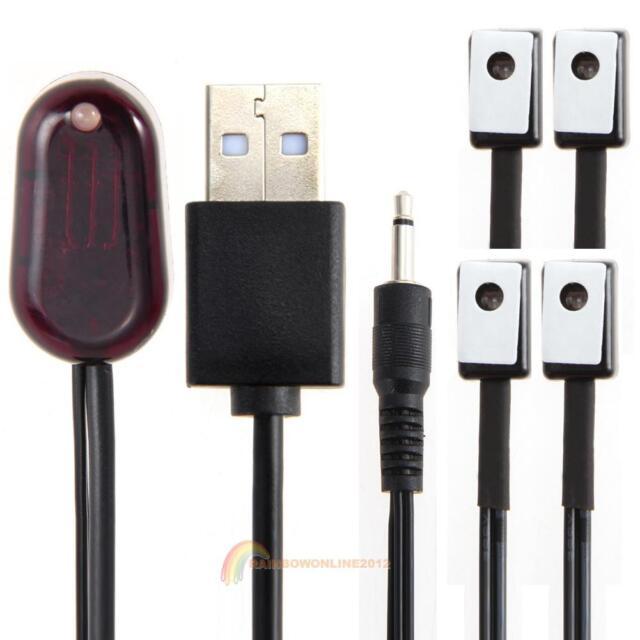 IR Extender 1 Empfänger 4-Emitter-Emitter-Repeater-Kit Infrarot-Fernbedienung