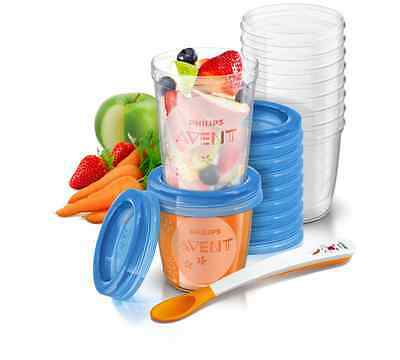 Avent Feeding Via Cup Storage 20 Cup Piece Feeding Set and Breast Milk Storage