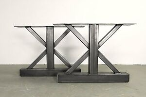 Superieur Image Is Loading Metal Table Legs Rustic Industrial Finish Custom Sizes