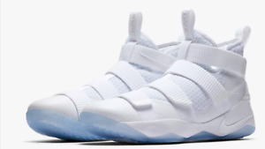 Nike Lebron James Soldier XI 11 All Triple White 897644-103 mens size 8-13