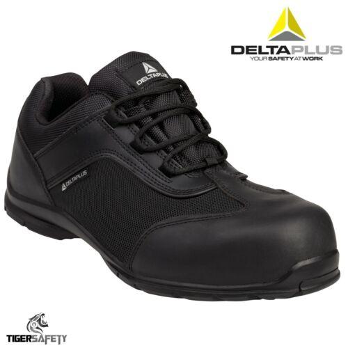 Delta Plus Big Boss S1P Mens Black Comosite Toe Cap Safety Trainers Shoes PPE