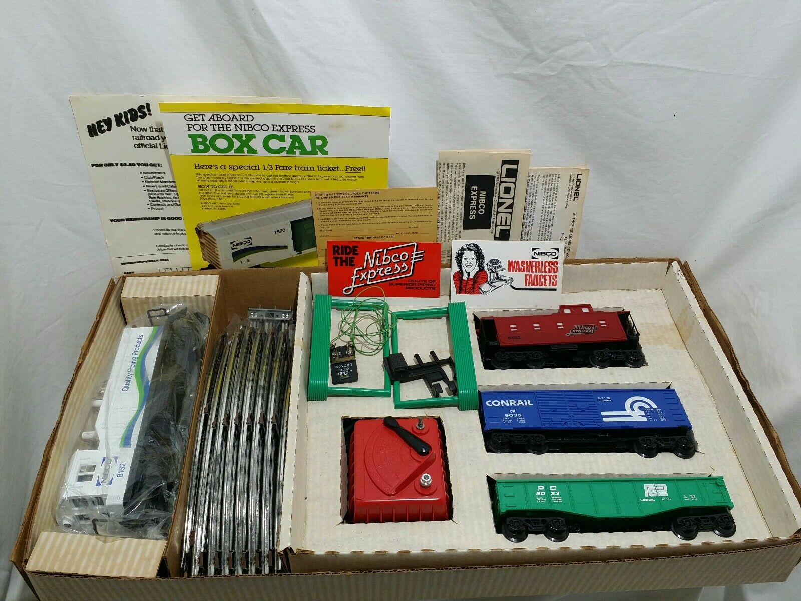 Lionel 027 Scale NIBCO EXPRESS Train Set In Excellent Condition