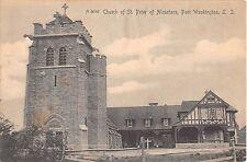 1907 Church of St. Peter of Alcantara Port Washington LI NY post card