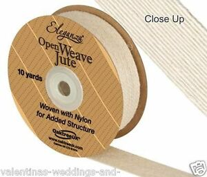 Ivory-Open-Weave-Jute-Ribbon-Eleganza-Crafts-Vintage-Weddings