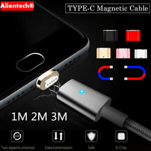 1M-3M-Magnetic-USB-Type-C-Fast-Charging-Charger-Cable-For-Samsung-Galaxy-S8-Plus