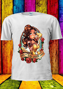Princess Belle Bella Beauty and The Beast White Women Vest Tank Top