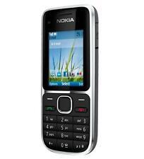 Nokia C Series C2-01 - Black (Unlocked) 3.2 MP Camera Mobile Phone Free Shipping