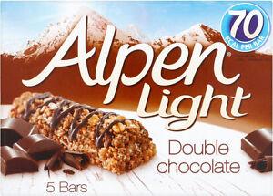 Alpen Licht Doppelbett Schokoladenbraun Müsli Barren 3 X 5 Packung