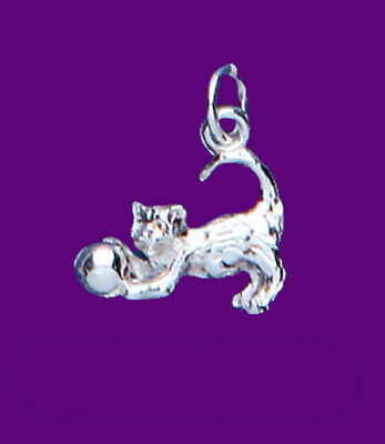 """Silver Kitten Cat Pendant 925 Hallmark Pet Jewellery 14-30"""" Chain Met De Nieuwste Apparatuur En Technieken"""