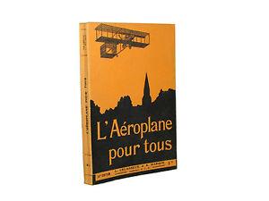 Libro-Illustrato-L-039-Aeroplane-pour-Tous-Aeroplano-per-Tutti-Lelasseux-Marque-1909