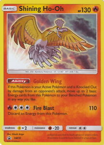 POKEMON-Shining-Ho-Oh-HO-OH-Iridescente-HOLO-SM70-BLACK-STAR-PROMO-LEGENDS