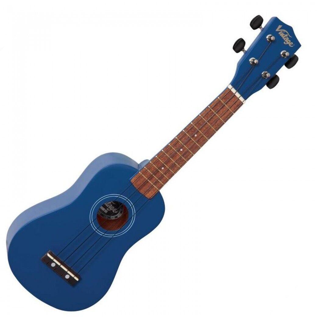 Vintage Ukelele Ukelele Ukelele Soprano - VUK15BL Satinada Azul Acabado - en Caja - Gran Idea  las mejores marcas venden barato