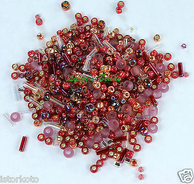 30g Toho Japanese Glass Seed Beads - #3217-Kokoro-Mauve/Gold Mix