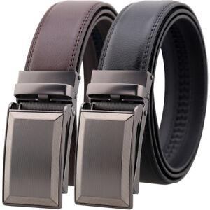 Leisure-Men-039-s-Cow-Leather-Belt-Automatic-Buckle-Belt-Designer-Waist-Strap-Gift