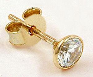 ECHT GOLD *** Zirkonia Ohrstecker 5,5 mm