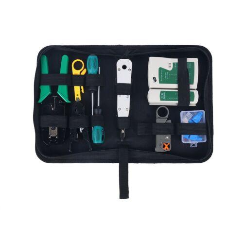 13PC Network Tools Net Computer Maintenance Phone LAN Cable Tester Repair Tools