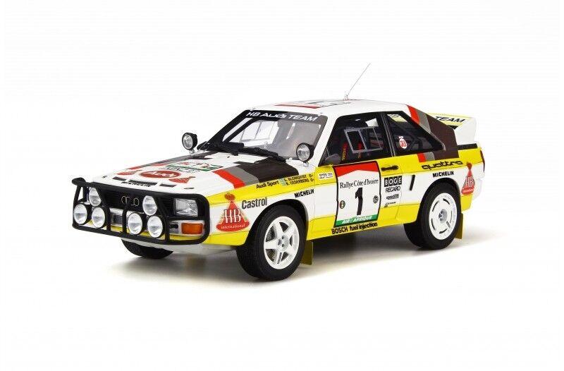 OTTO MOBILE 253 AUDI QUATTRO SPORT SWB Gr B model car Safari Rally 1984 1 18th
