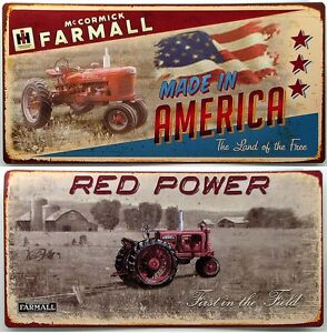 farmall tractor tin signs