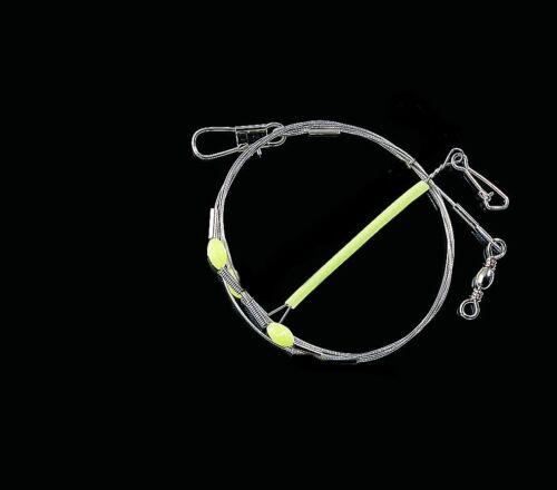 DEGA Spezial-Vorfach mit 1 Seitenarm für Beifänger mit Leuchtschlauch 7cm
