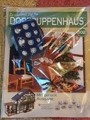 Aldea casa de muñecas nr 102 juego de té para la Navidad