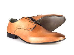 Silver Street London Baker Mens Tan Leather Formal Shoes Rrp £50 Free Uk P&p Geeignet FüR MäNner, Frauen Und Kinder