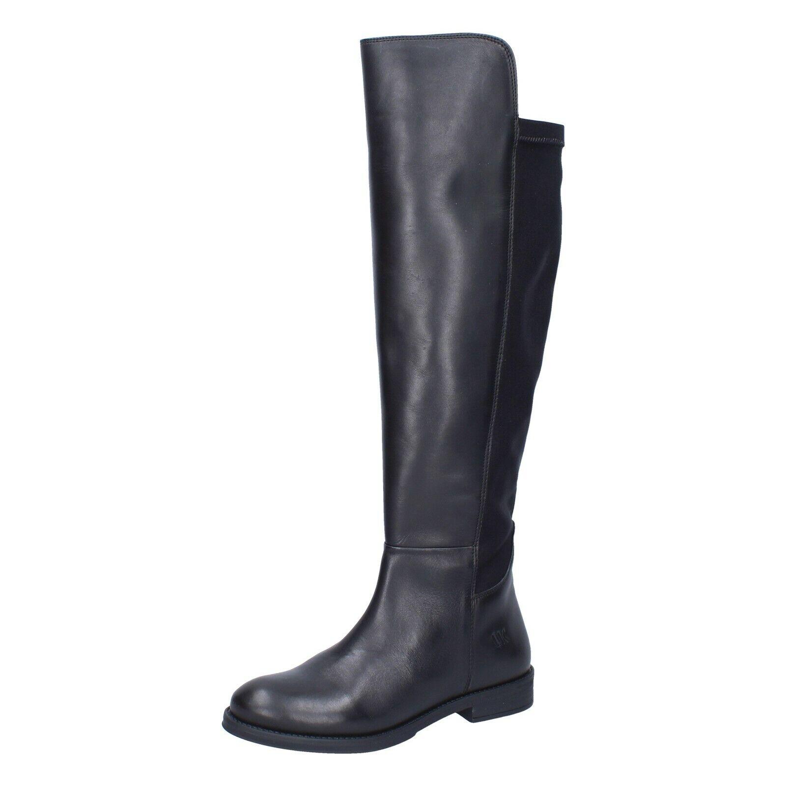 Zapatos señora Lumberjack 36 UE botas negro de cuero textil br274-36