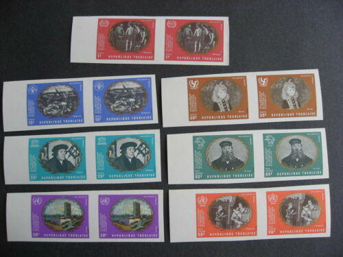 TOGO UN 25th Sc 751-5 C137-8 set in MNH imperf pairs very nice check them out!