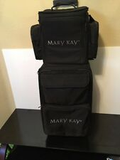 Mary Kay Wheeled Rolling 2 Piece Luggage Set Color Lipstick Carrier and Suitcase