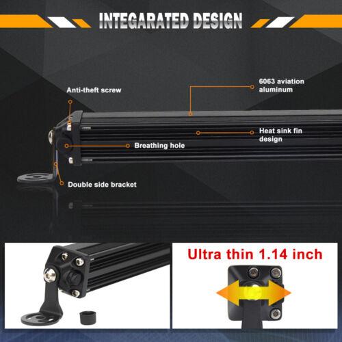 10 inch 130W Combo Slim LED Work Driving Fog Light Bar for Spreader Marine Boat