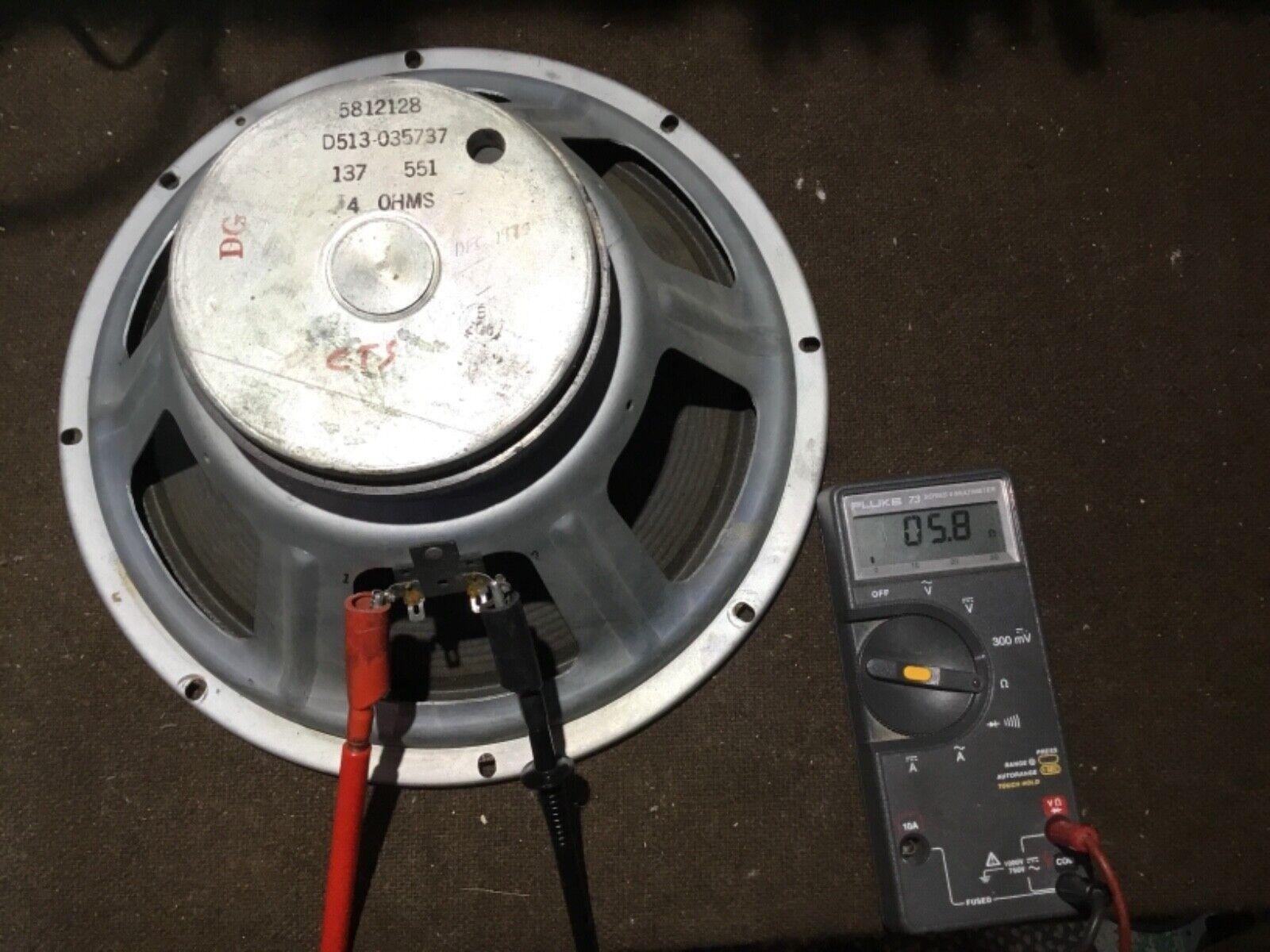 "Fender (CTS) 12"" 4 ohms 1975 speaker"