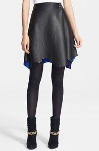 3 Leather line A Asymmetrical Black Skirt Uk 1 Phillip 6 Size Lim 10 Us pawrqpCAx