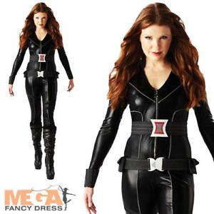 BLACK-Widow-Supereroe-Donna-Costume-gli-Avengers-Costume-Outfit-UK-6-18