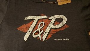 Ringaboy-Mens-T-Shirt-Texas-and-Pacific-Railroad-New-With-Tags-Size-XL