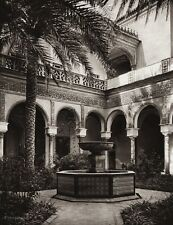 1922 Vintage SPAIN Seville Duke Alba's Palace Garden Architecture Art HIELSCHER