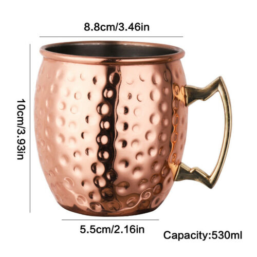 Coffee Cup Party Mug 530ML Cocktail cup Beer Cup 18 Ounces Hammered Copper