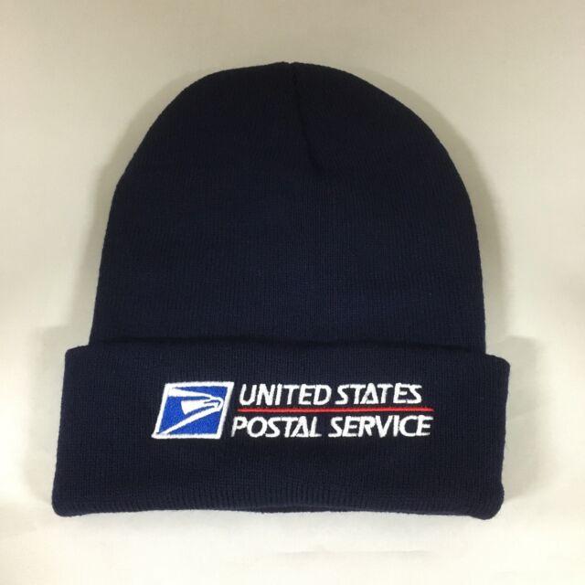 5dd6f9520ad77 USPS Beanie Decky Custom Embroidery Cuffed Knit United State Postal Service  NAVY