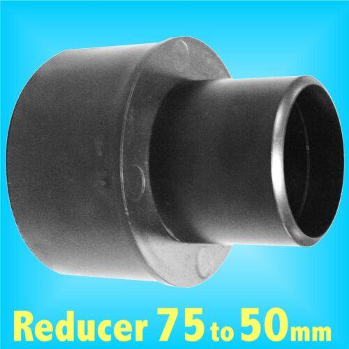 Réducteur 75 mm à 50 mm pour Extraction De Poussière Tuyau Charnwood SIP record Extracteur