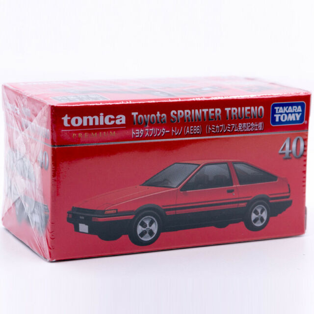 TOMICA PREMIUM 40 TOYOTA SPRINTER Trueno AE86 1//60  TOMY Diecast New Red 2020