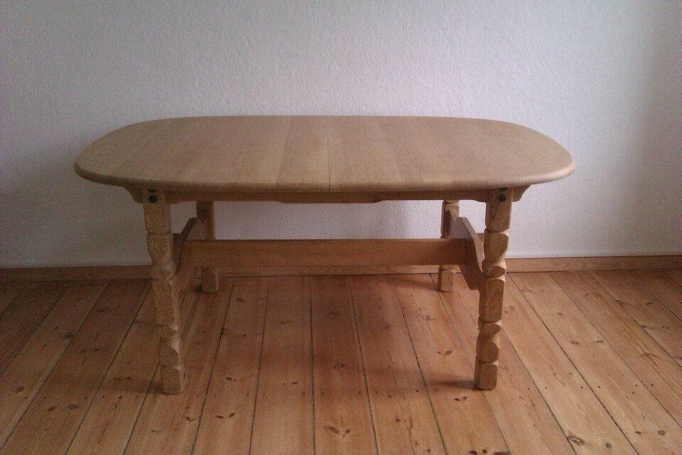 Spisebord m/stole, eg, egetræsbord