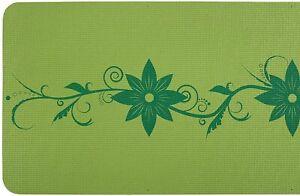 Yoga-Mat-by-Serene-Focus-Green-Floral-Design-Alignment-amp-Focus
